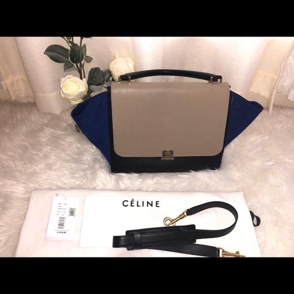 93a07871c99a Celine Handbags - Celiné Colorblock Trapeze Bag